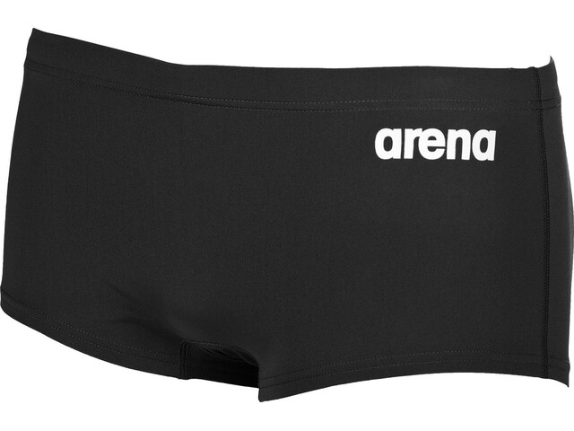 arena Solid Squared Shorts Men black-white